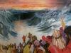 průchod mořem ilustrace z dětské knížky 1