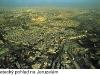 letecký pohled na Jeruzalém