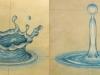 kapka vody dopadající na hladinu